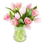 Bukett med rosa tulpaner. Skicka dem med ett blomsterbud från Euroflorist och gör någon riktigt glad!