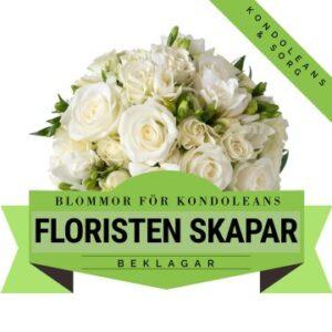 Låt floristen skapa en vacker kondoleansbukett i ljusa färger med tillgängliga säsongsblommor. Ett alternativ hos Florister i Sverige