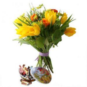 Påskblommor och påskägg - skicka med bud via Florister i Sverige