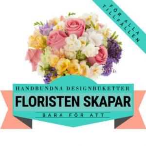Låt floristen skapa en handbunden designbukett! Ett alternativ hos Florister i Sverige.